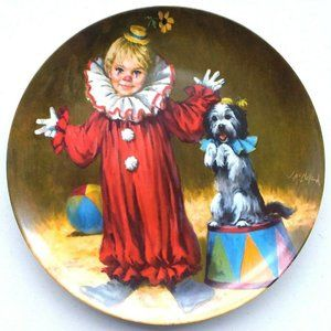 TBE Reco Tommy the Clown Vintage Collector Plate
